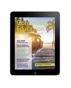 Continuing Education for Florida Real Estate Professionals 17th Edition (eBook)